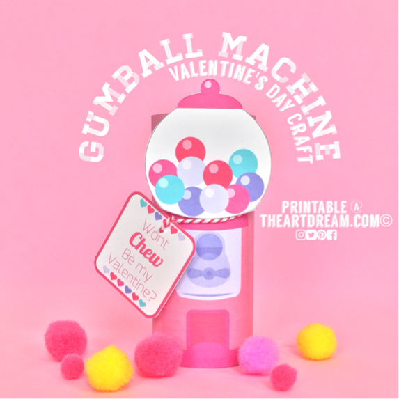 image relating to Gumball Machine Printable named Gumball Gadget Craft