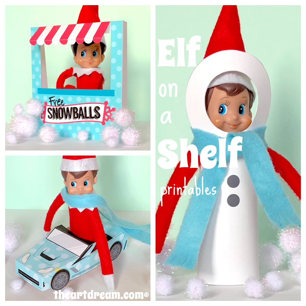 photo about Elf on the Shelf Printable Props named Elf upon a Shelf Printables