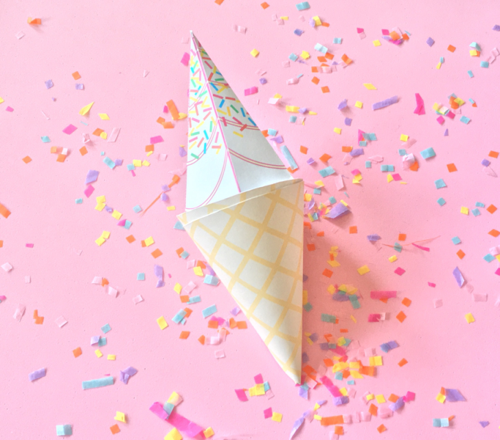 Ice cream cone paper craft for Ice cream cone paper craft