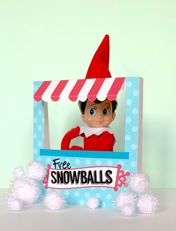 photograph about Elf on the Shelf Printable Props named Elf upon a Shelf Printables