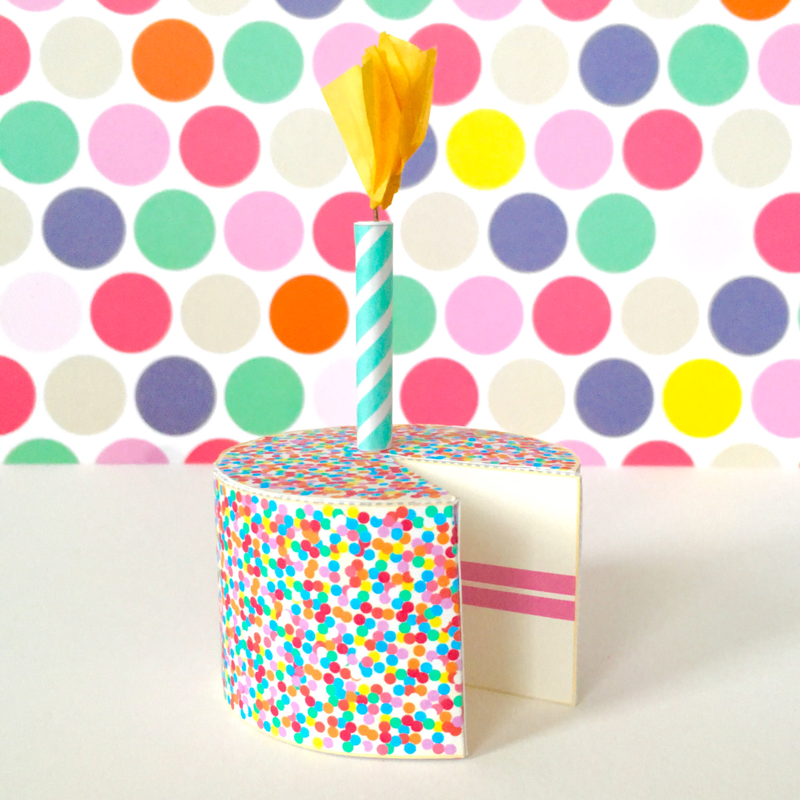 Birthday Cake Printable Papercraft
